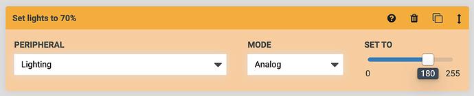 Analog control peripheral